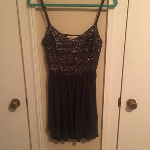 Hollister Cotton Party Dress Gray Size Small
